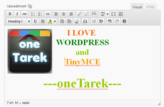 WP TinyMCE WYSIWYG Editor