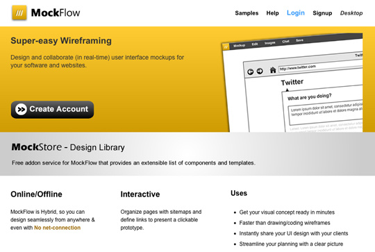 Wireframe Tool MockFlow