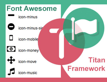 titan framework font awesome icon